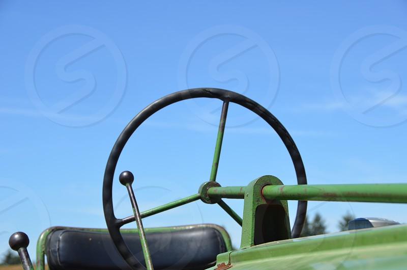 Tractor farming blue sky photo