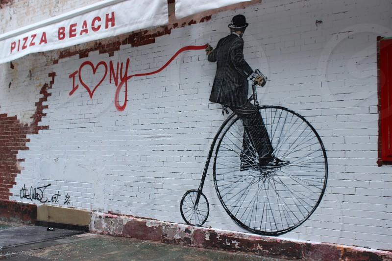 Penny Farthing bike graffiti photo
