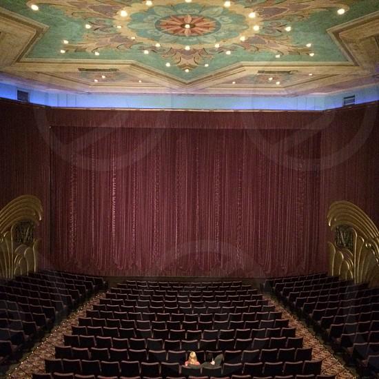 mauve theater curtain photo