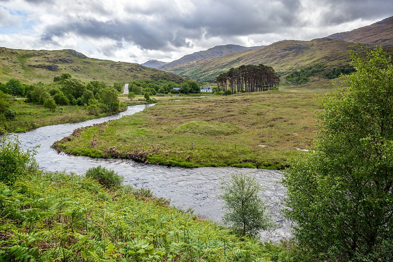 View of the River Ailort in Lohaber Scotland photo
