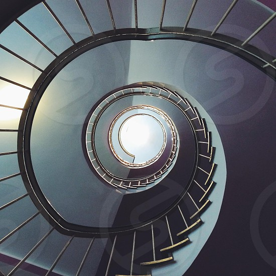 Circled staircase cold light.  photo