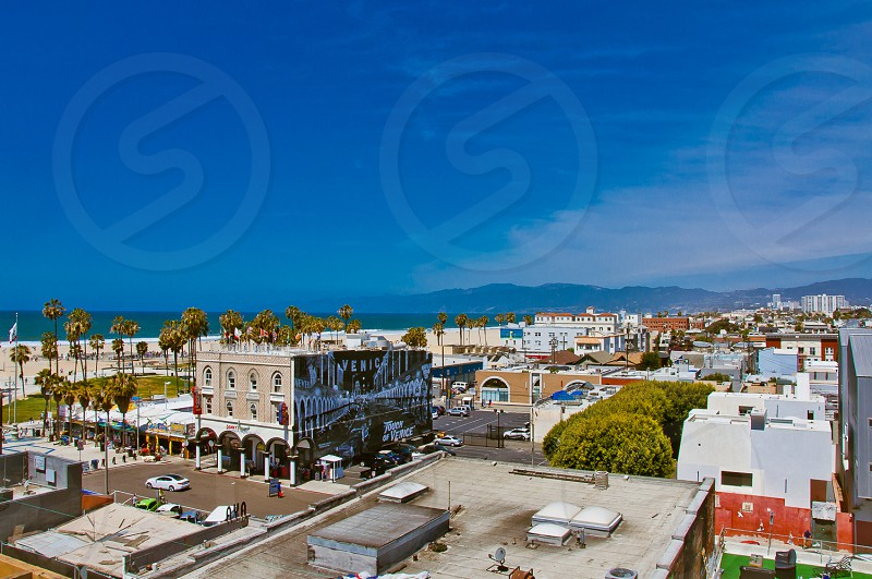 Rooftop view of Venice Beach California facing north.  photo