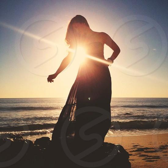 woman's silhouette photo