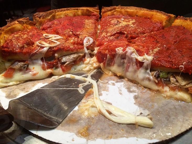 Chicago deep dish pizza photo