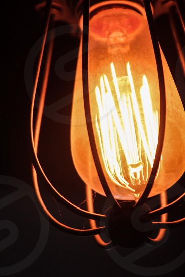 brown LED lamp photo