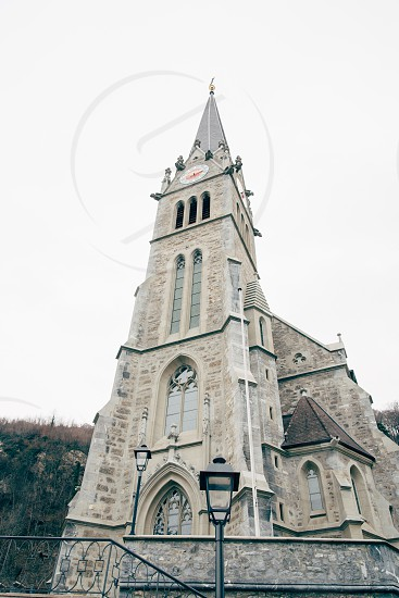 the main church of the country in Vaduz Liechtenstein photo