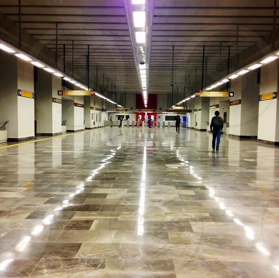 beige tiled granite floor photo