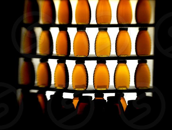 Jars of honey photo