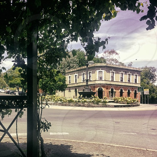 daylesford country town victoria australian australia old historic road buildings photo