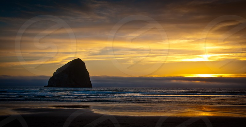 sunset coast landscape photo