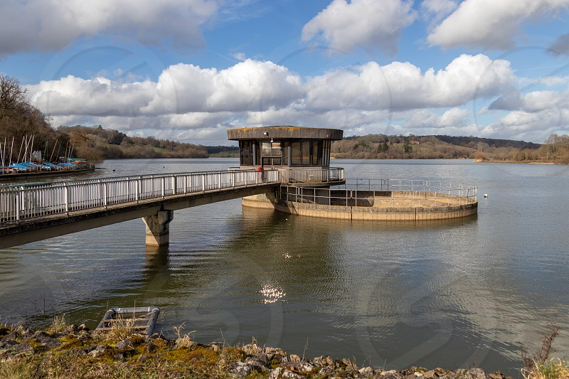 ARDINGLY SUSSEX/UK - FEBRUARY 19 : View of the pumping station at the reservoir in Ardingly Sussex on February 19 2019 photo