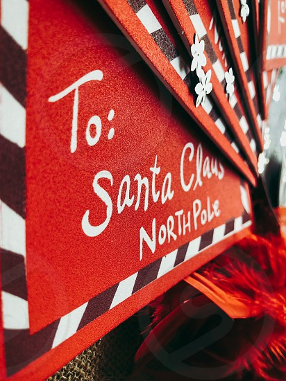 Santa Letters Christmas Holiday  photo