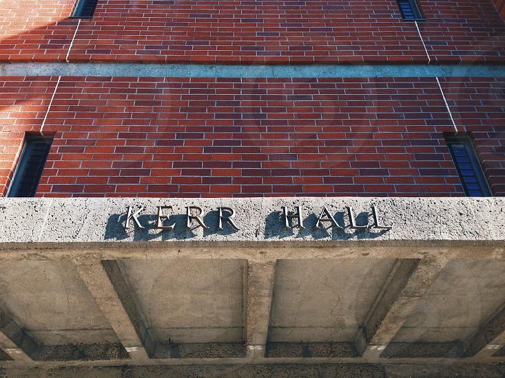 kerr hall building signage photo