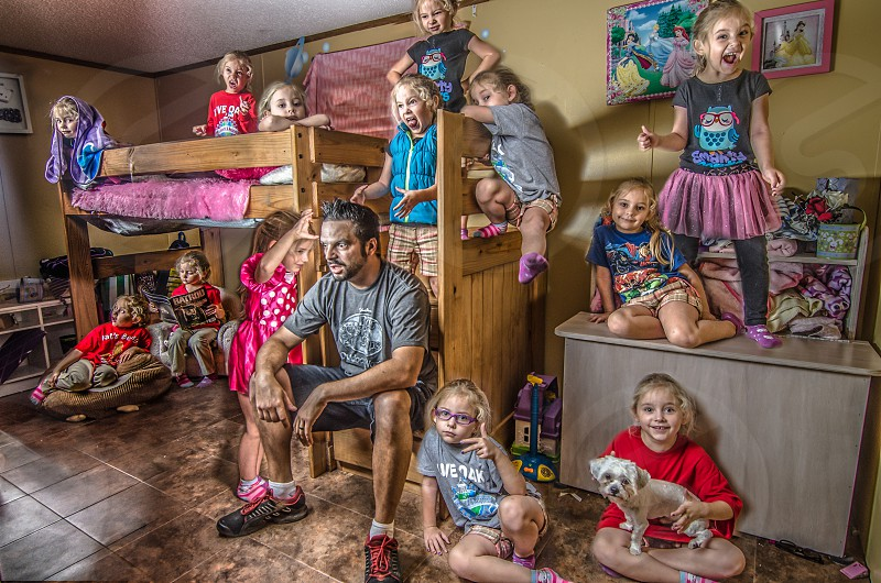 Multiple images of the same people.  Displaying a lifestyle in one image photo