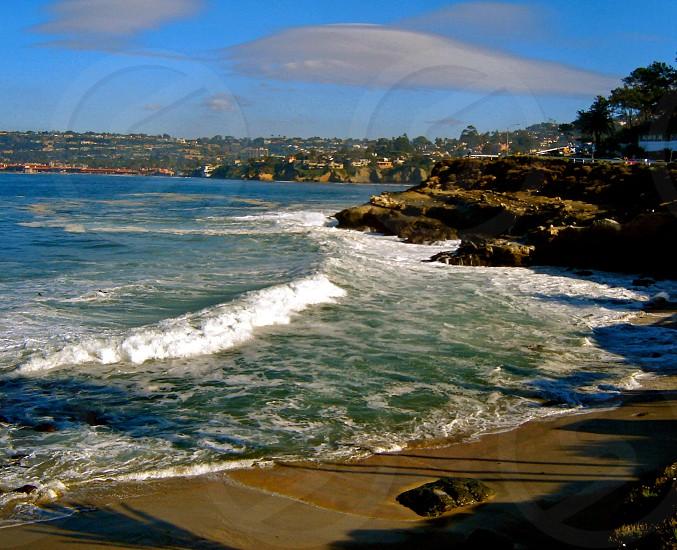 Waves on the coast of La Jolla California - USA  photo