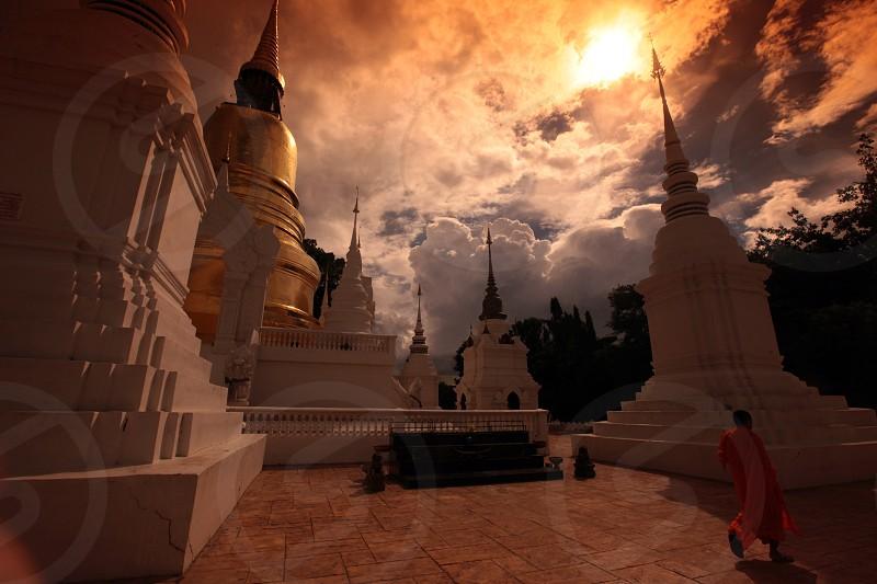 Die Architektur des Wat Suan Dok Tempel in Chiang Mai im Norden von Thailand. photo