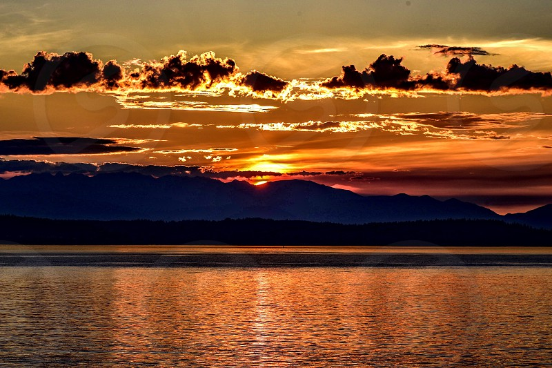 Tranquil sunset photo