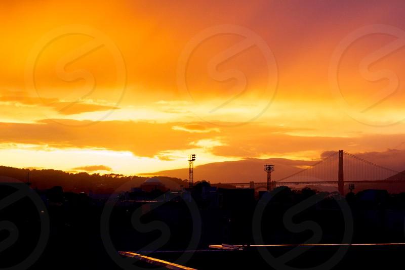 golden gate bridge san francisco sunset photo