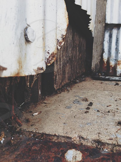 Grunge metal paint rust decay urban photo