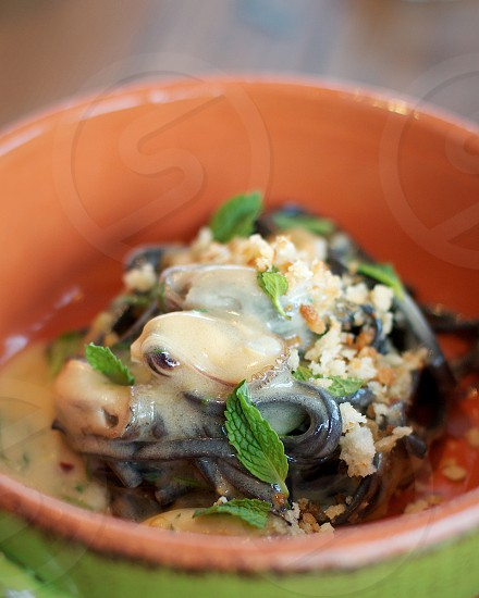 A Mano Philadelpia – squid ink chitarra w/ sea urchin lemon breadcrumbs mussels & mint photo