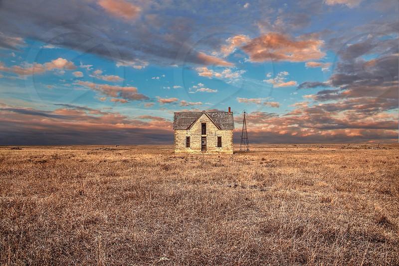 Abandoned house near Florence KS. photo