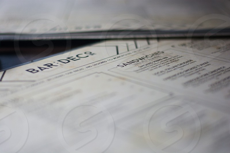 selective focus photography of Bar DECo printer paper photo