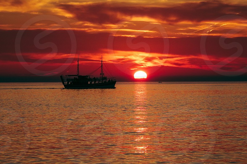Holiday sunset Croatia photo