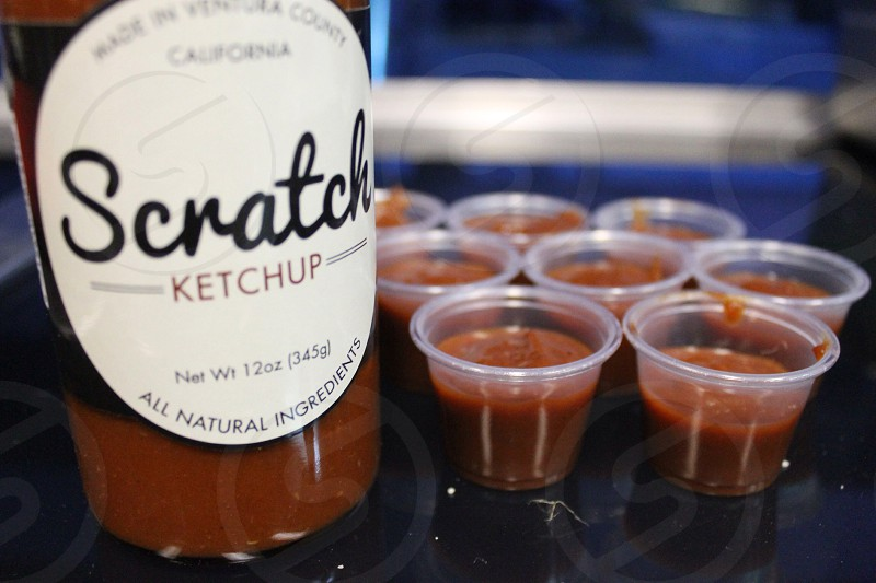scratch ketchup bottle photo