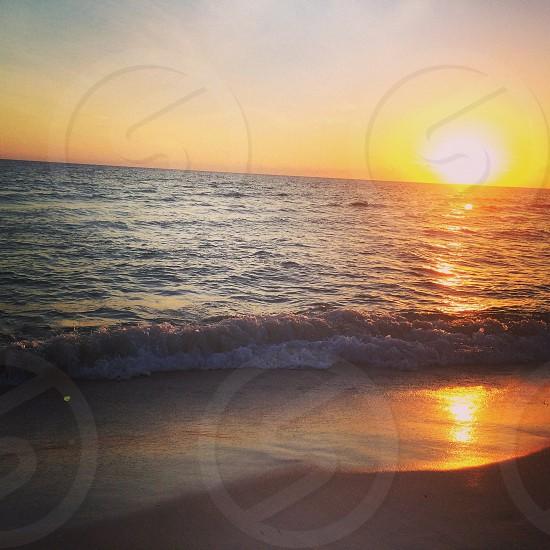 Serene sunset on Panama City Beach photo