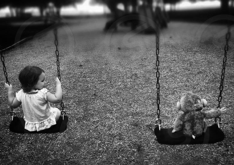 Play ground always a friend swings photo