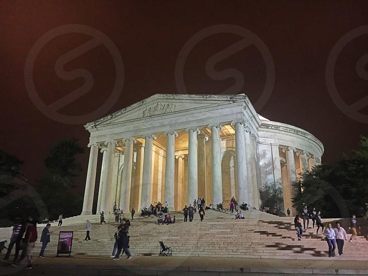 Jefferson memorial Washington DC night photo