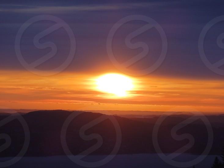 Midnight sun. Bergen Norway. photo