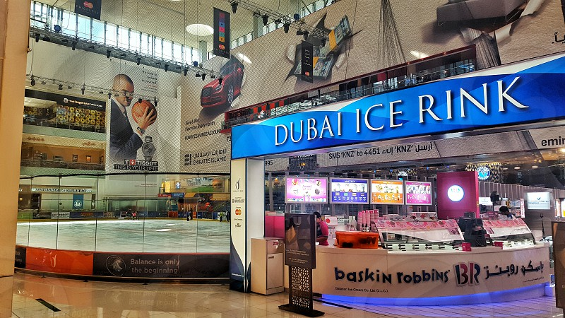 Dubai ice skating rink - Dubai mall - UAE photo
