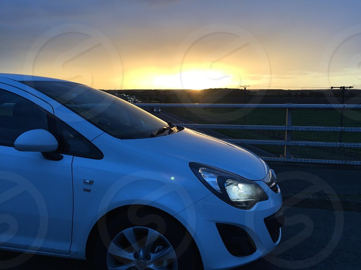 Sunset & Car photo
