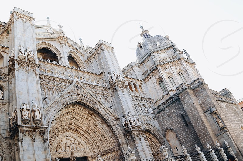Toledo cathedral spain  cultural building historical religious building  photo