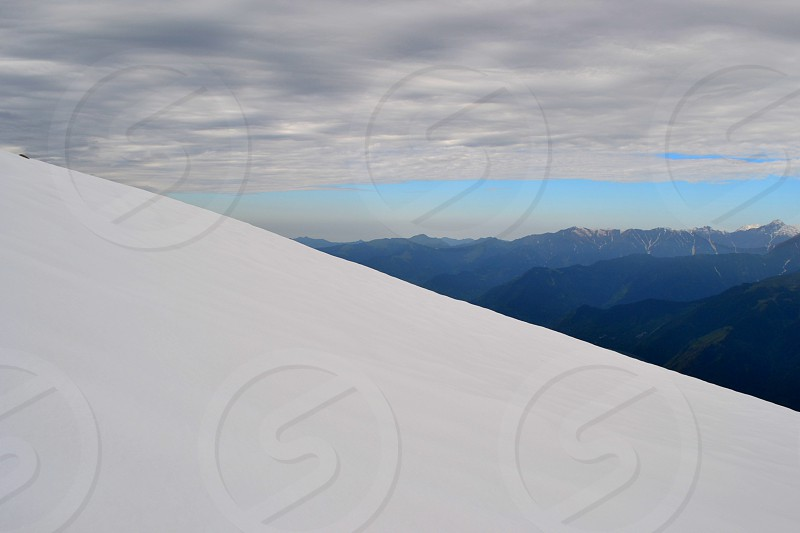 Snow Mountain Horizon Himalaya Clouds India photo