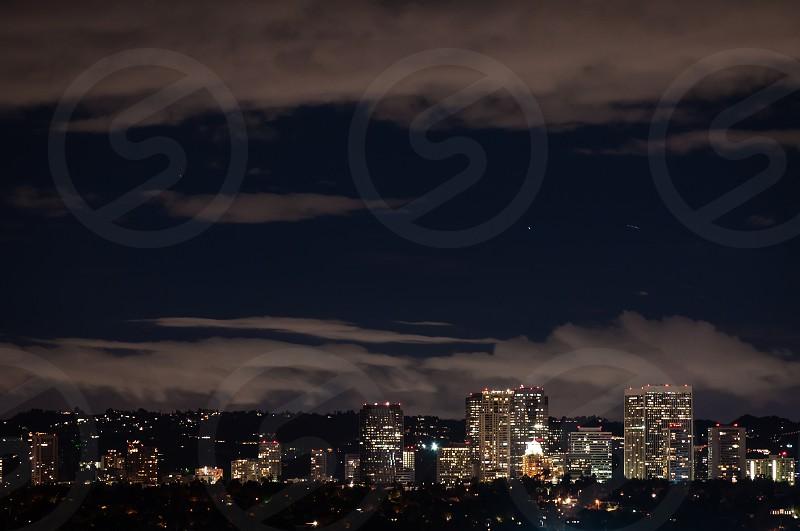 West LA cityscape at night photo