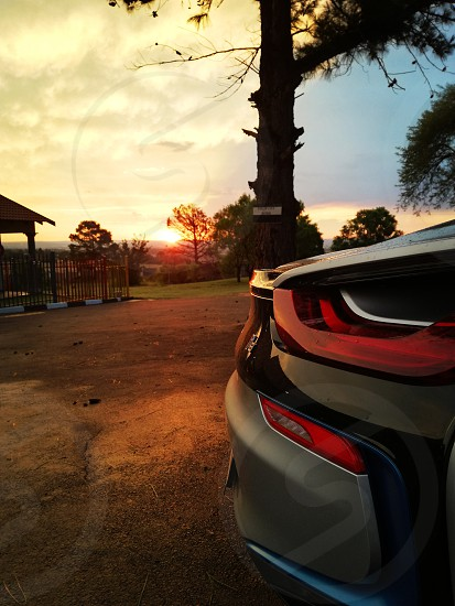 bmw I8' i 8 sunsets photo