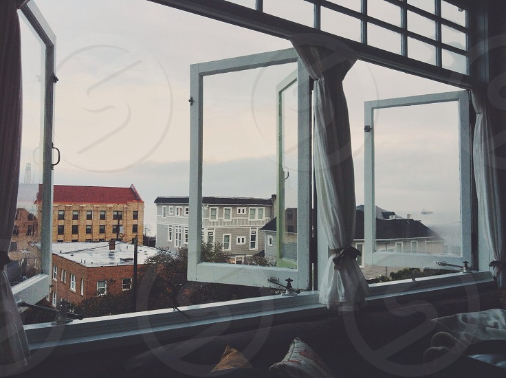 Hotel windows with a view photo