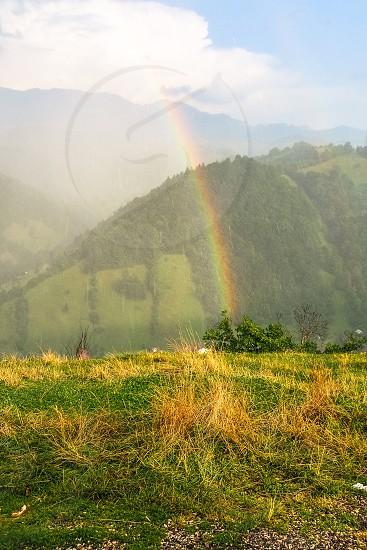 rainrainbownaturegreendropswatergrasstravel photo
