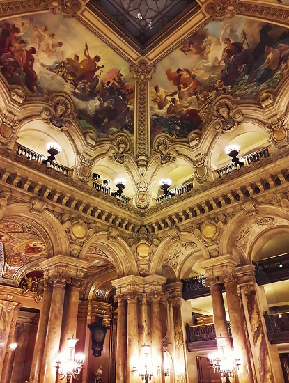 Interior view of the Opera National de Paris Garnier France. It was built from 1861 to 1875 for the Paris Opera house photo