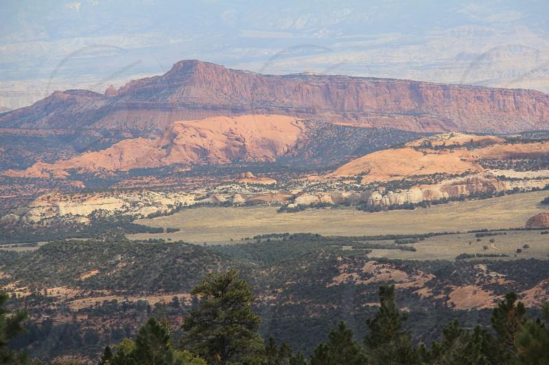Pastel vista landscape photo