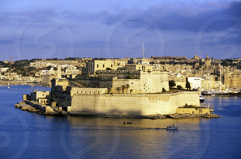 The centre of the Old Town of the city of Valletta on the Island of Malta in the Mediterranean Sea in Europe. photo
