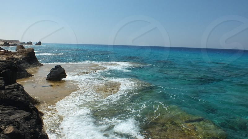 The scene is from Cleopatra Beach Marsa Matrouh City Egypt. photo