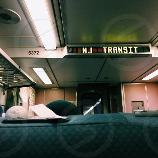 white New Jersey Transit photo