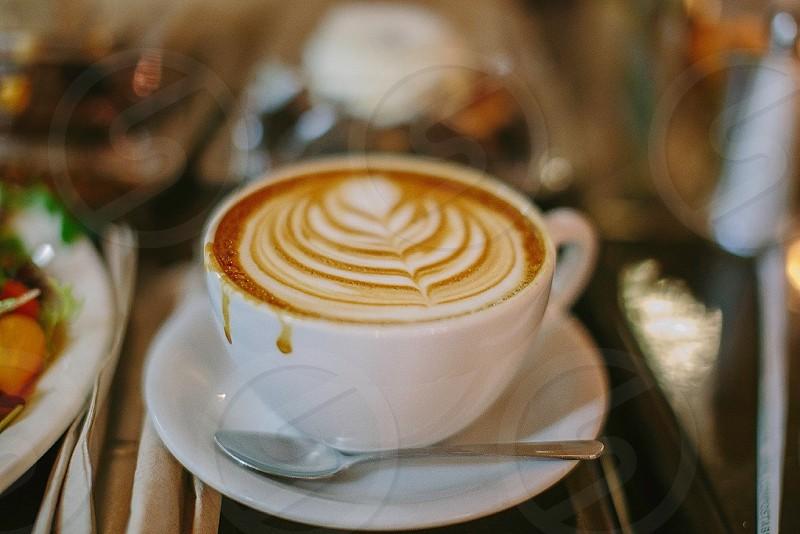 coffee on saucer photo
