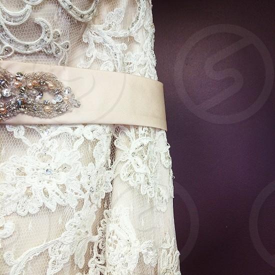 Wedding dress. Lace.  photo