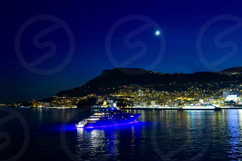 Monte Carlo Monaco French Riviera Harbor Evening Travel Leisure Culture Architecture Old Town Europe History photo