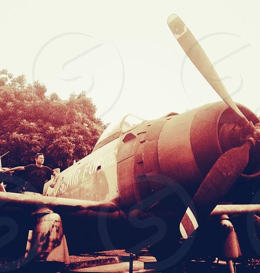 vintage fighting plane photo