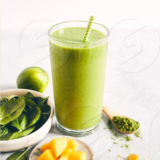 Matcha Superfood Smoothie - Square Crops photo